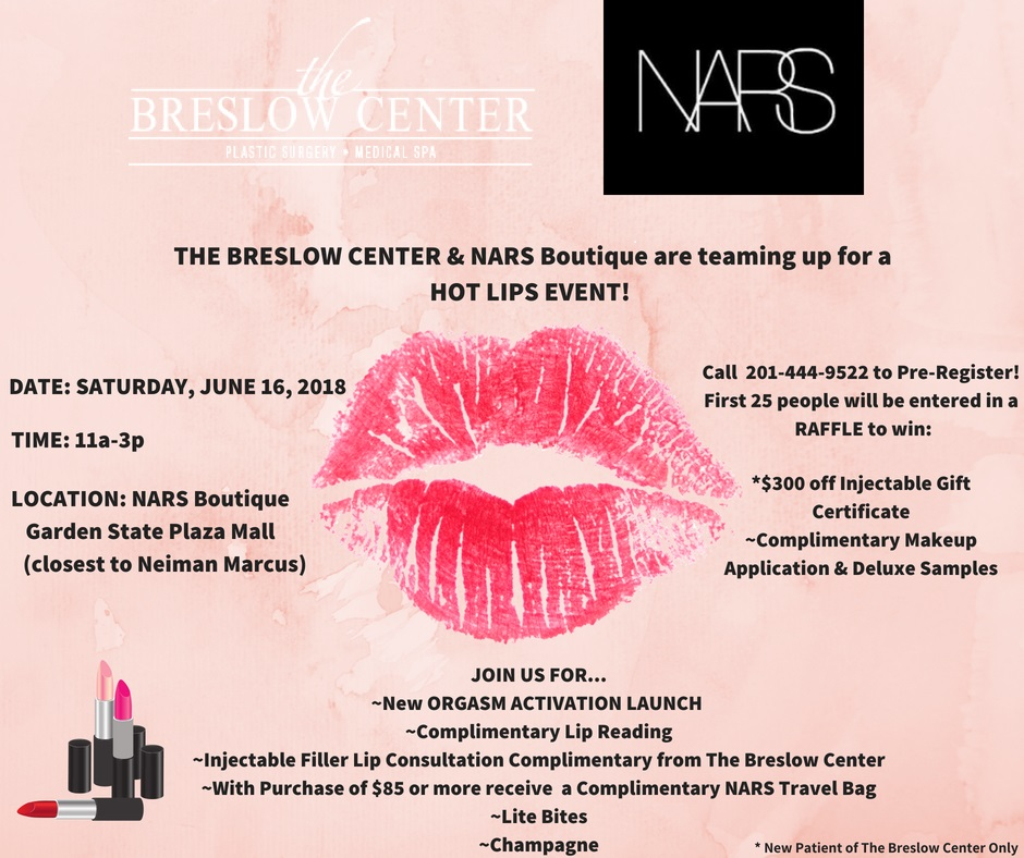 'Hot Lips' with The Breslow Center & NARS, Sat. June 16th
